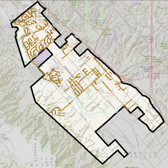 Murrieta Sewer Service Area Map